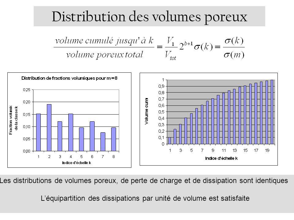 Distribution des volumes poreux