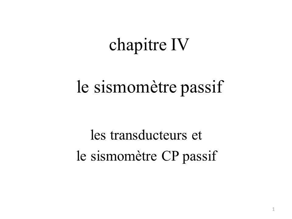 chapitre IV le sismomètre passif