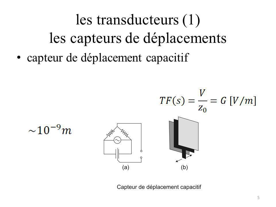 les transducteurs (1) les capteurs de déplacements