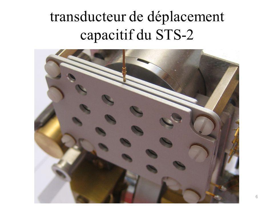 transducteur de déplacement capacitif du STS-2
