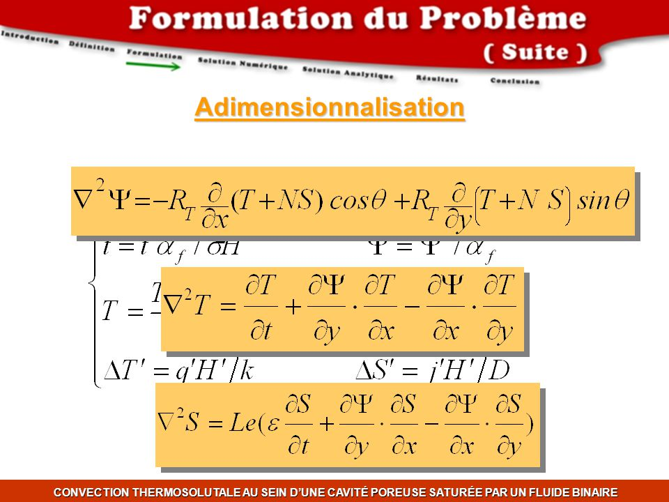 Adimensionnalisation