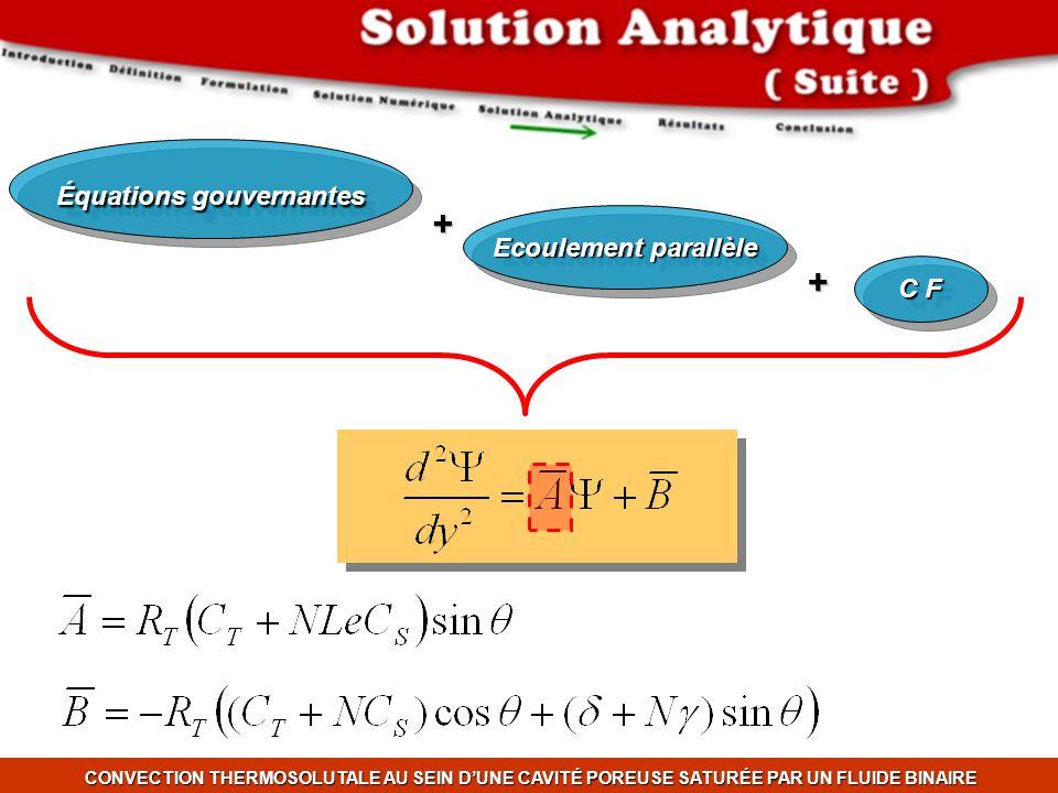 Équations gouvernantes