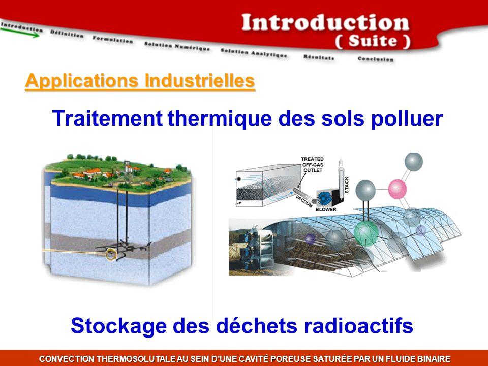 Traitement thermique des sols polluer Stockage des déchets radioactifs