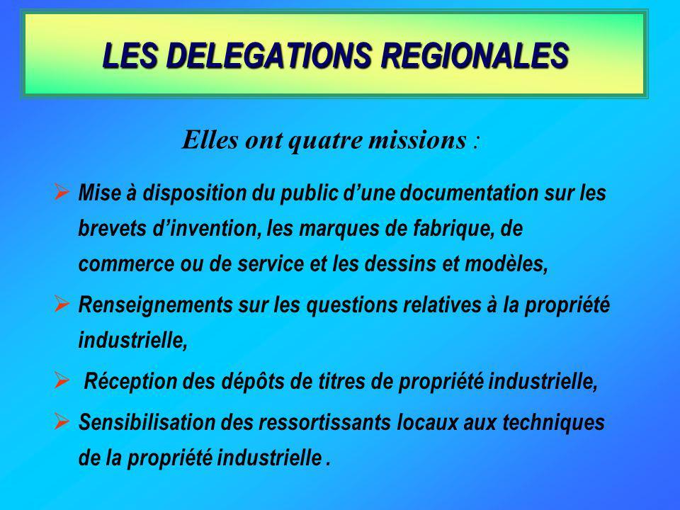 LES DELEGATIONS REGIONALES
