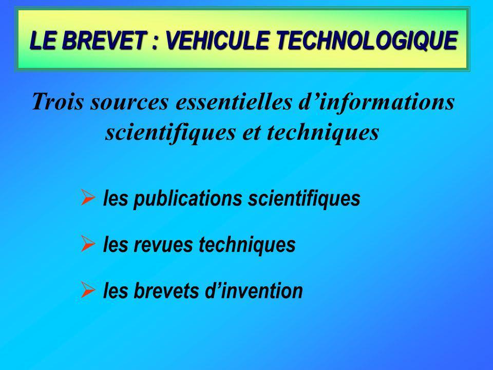 LE BREVET : VEHICULE TECHNOLOGIQUE