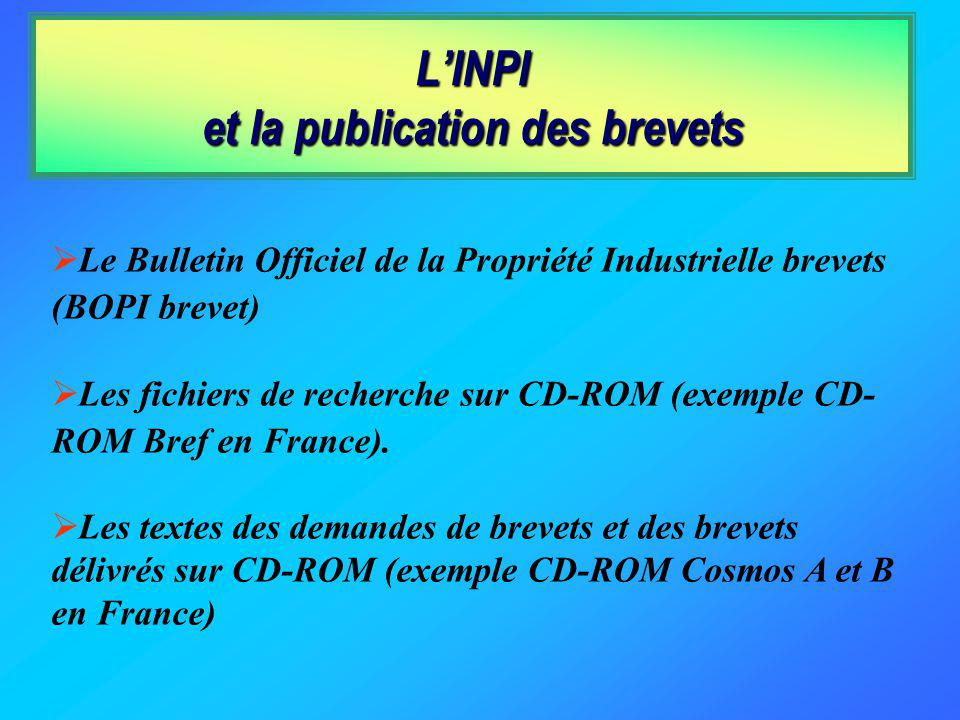 L'INPI et la publication des brevets