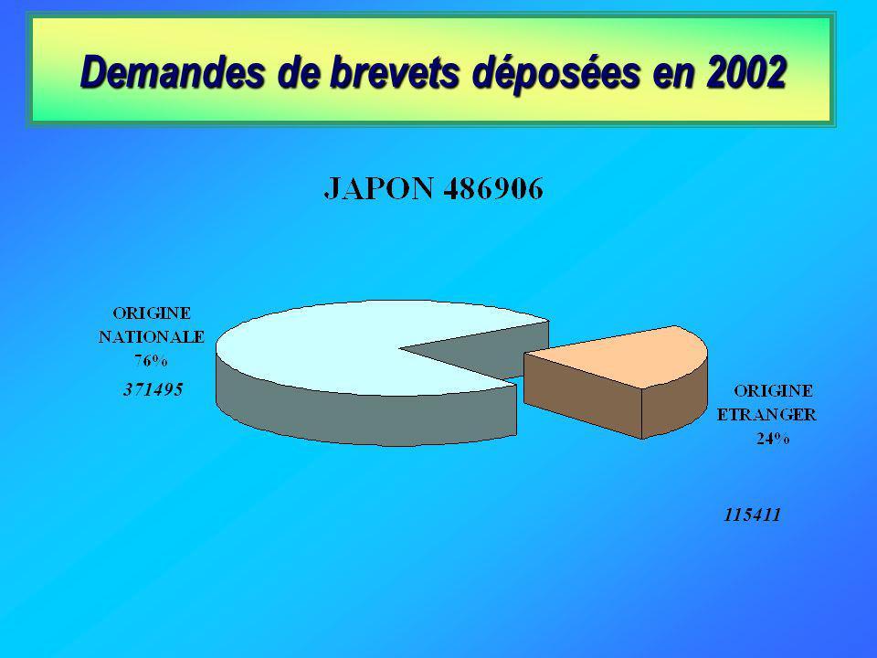 Demandes de brevets déposées en 2002