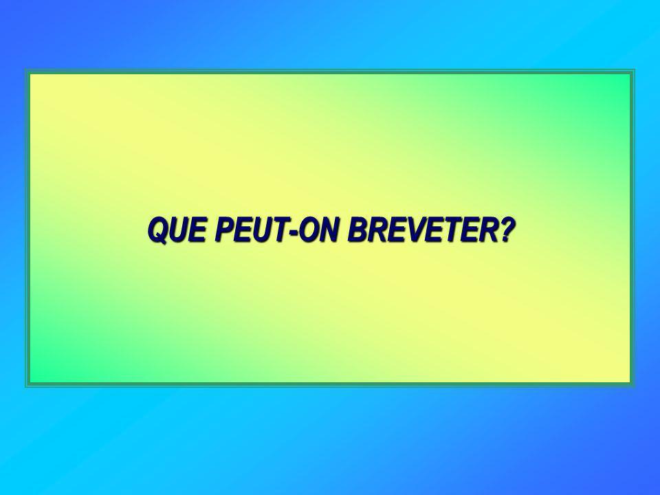 QUE PEUT-ON BREVETER