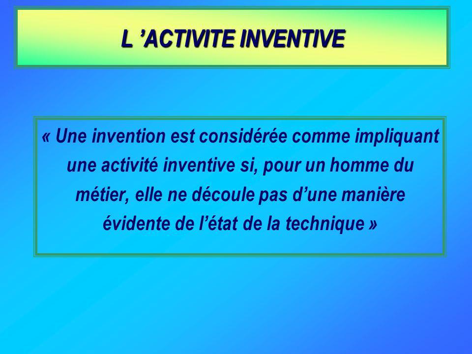 L 'ACTIVITE INVENTIVE