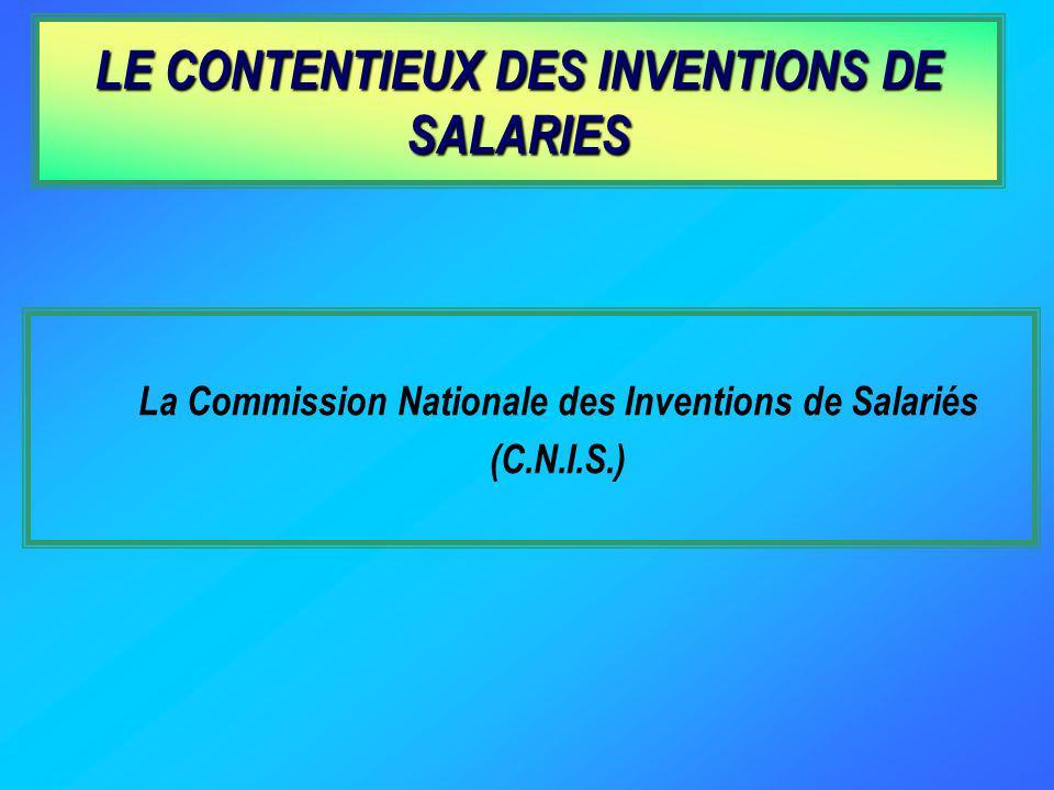LE CONTENTIEUX DES INVENTIONS DE SALARIES