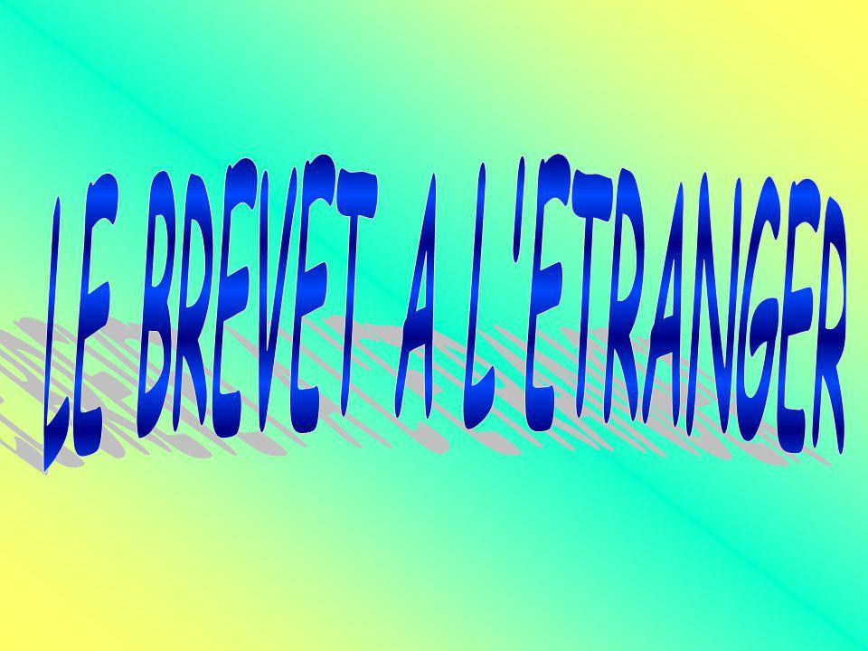 LE BREVET A L ETRANGER