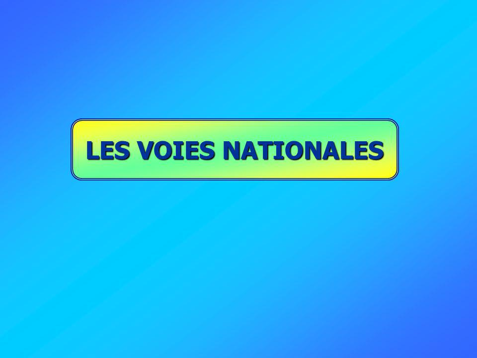 LES VOIES NATIONALES