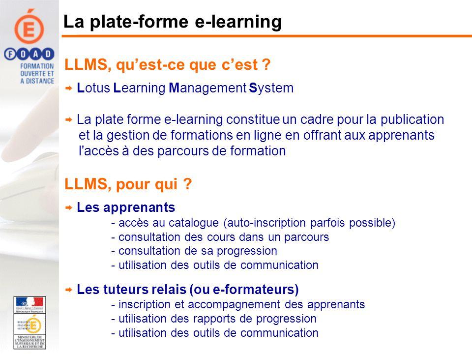 La plate-forme e-learning