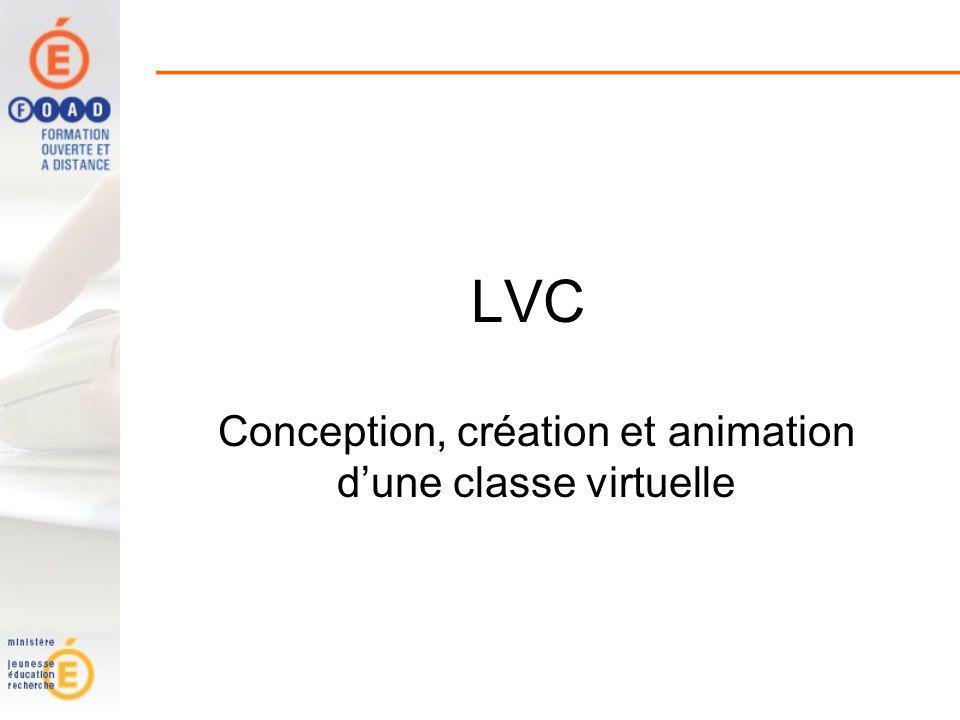 Conception, création et animation d'une classe virtuelle