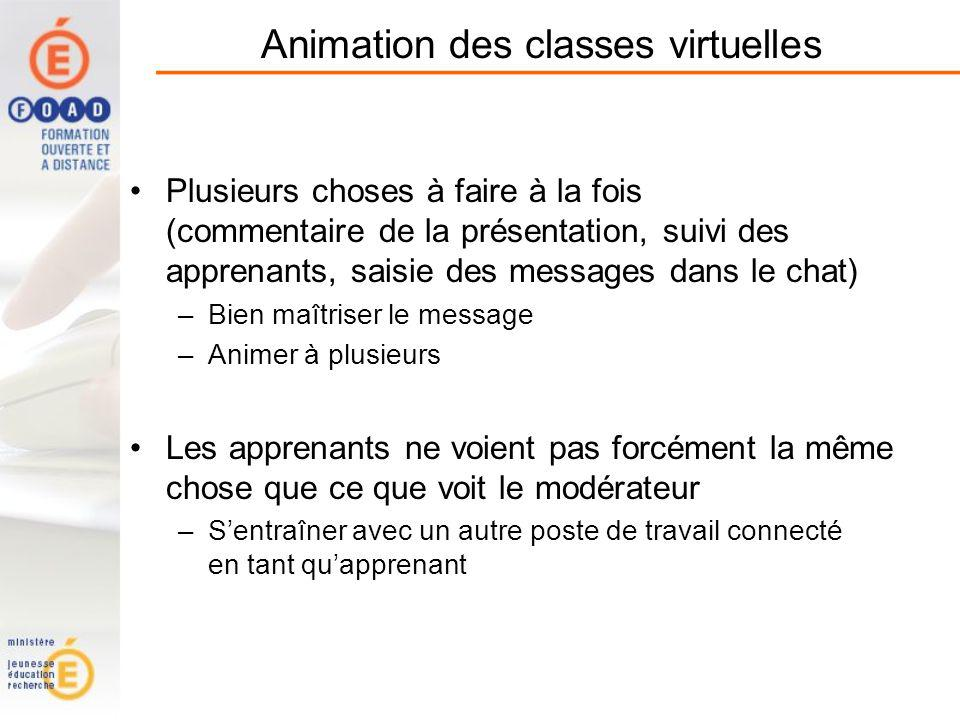 Animation des classes virtuelles