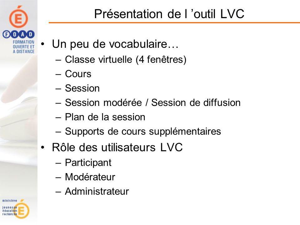 Présentation de l 'outil LVC