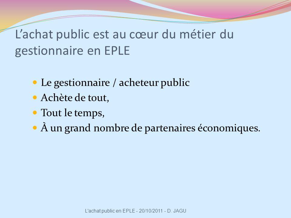 L'achat public est au cœur du métier du gestionnaire en EPLE