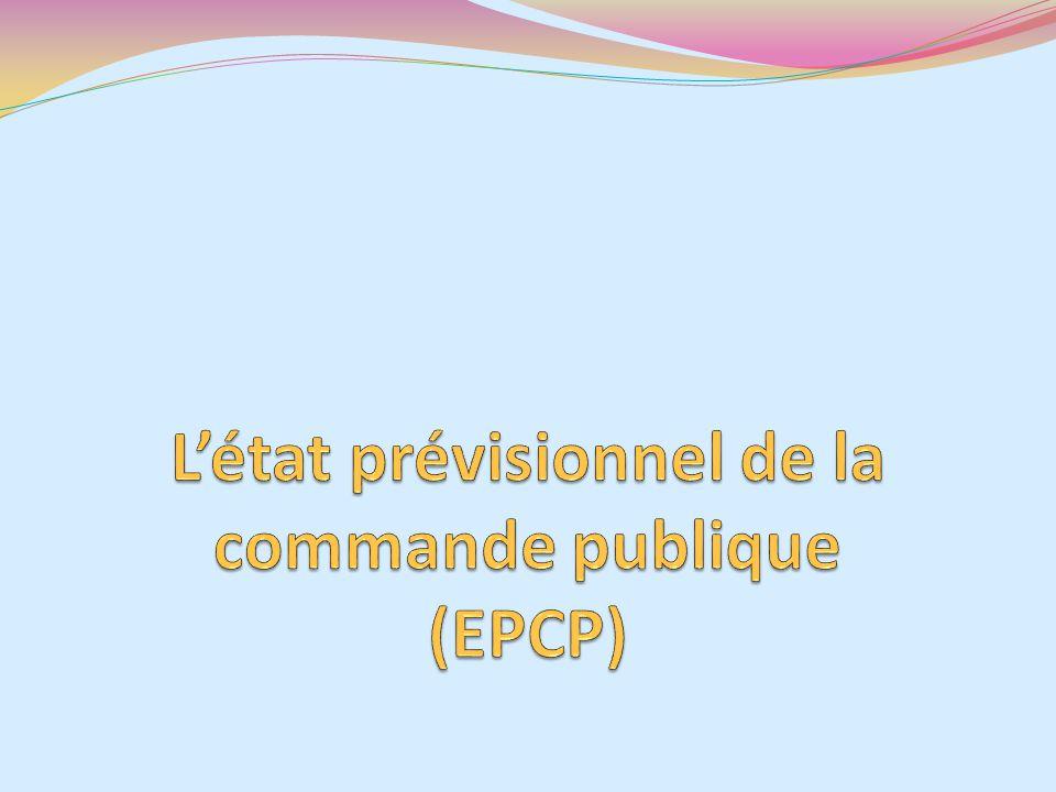 L'état prévisionnel de la commande publique (EPCP)