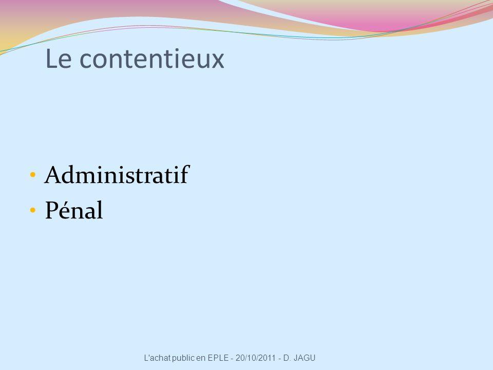 Le contentieux Administratif Pénal