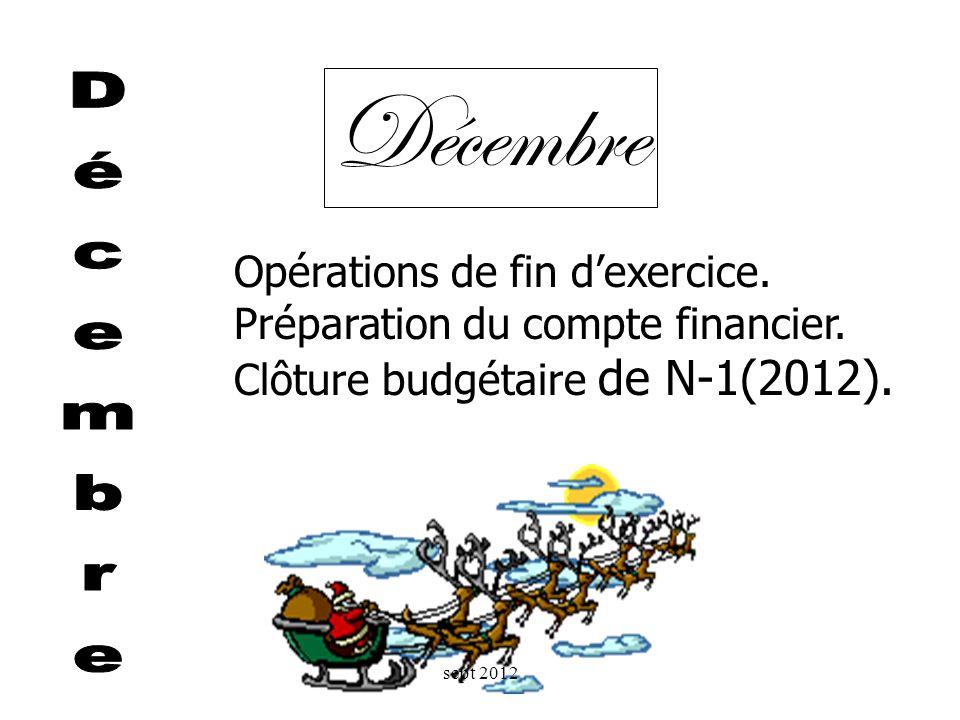 Décembre Décembre Opérations de fin d'exercice.