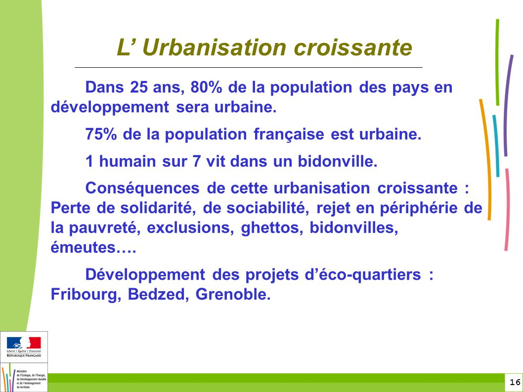 L' Urbanisation croissante