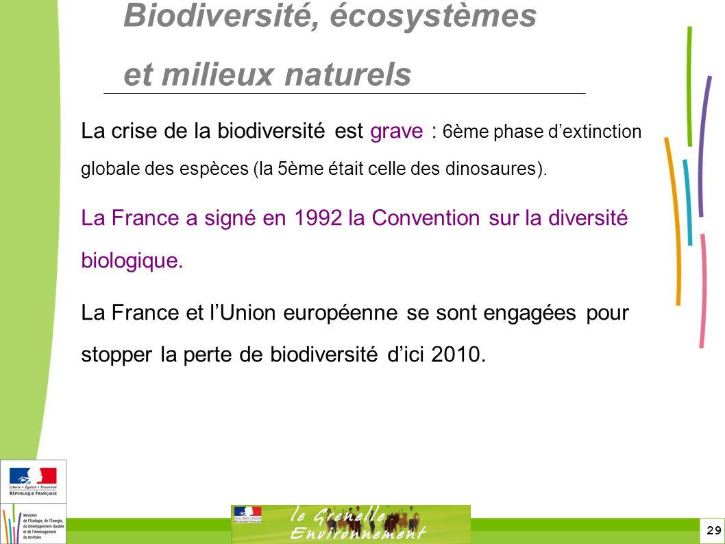 Biodiversité, écosystèmes et milieux naturels
