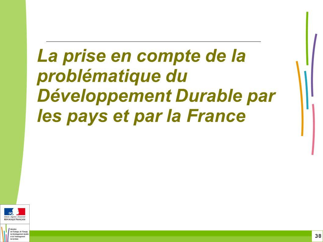 toitototototoot La prise en compte de la problématique du Développement Durable par les pays et par la France.