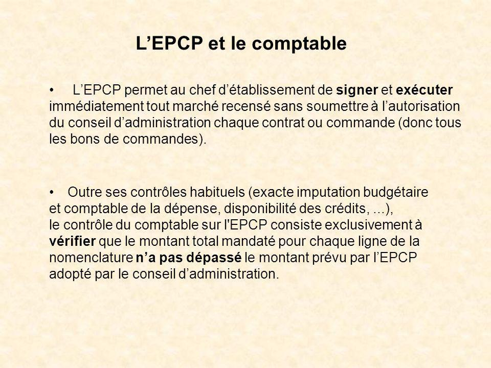 L'EPCP et le comptable