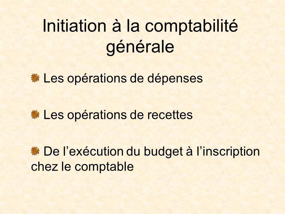 Initiation à la comptabilité générale