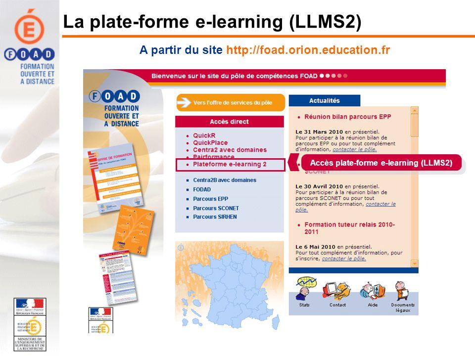 La plate-forme e-learning (LLMS2)