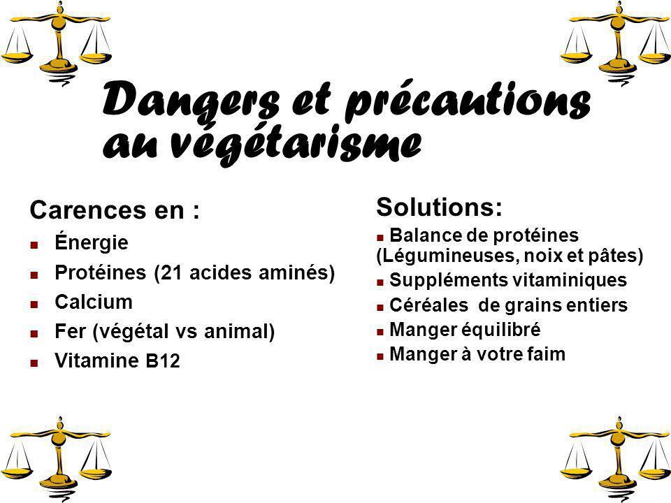Dangers et précautions au végétarisme
