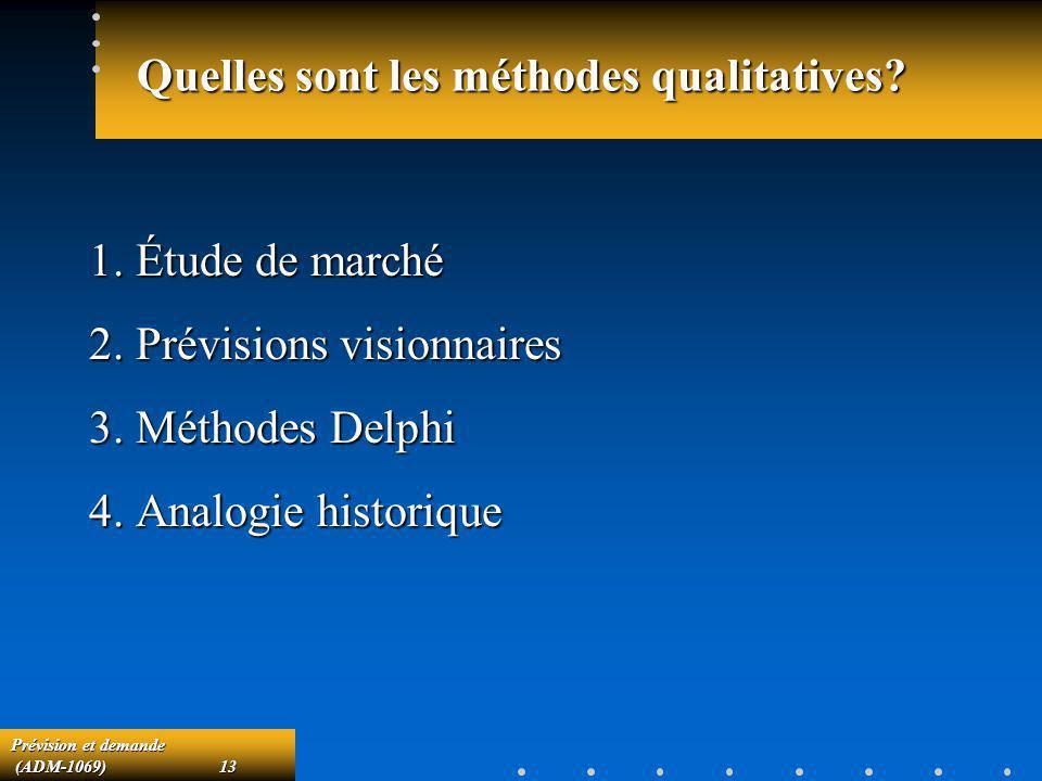 Quelles sont les méthodes qualitatives
