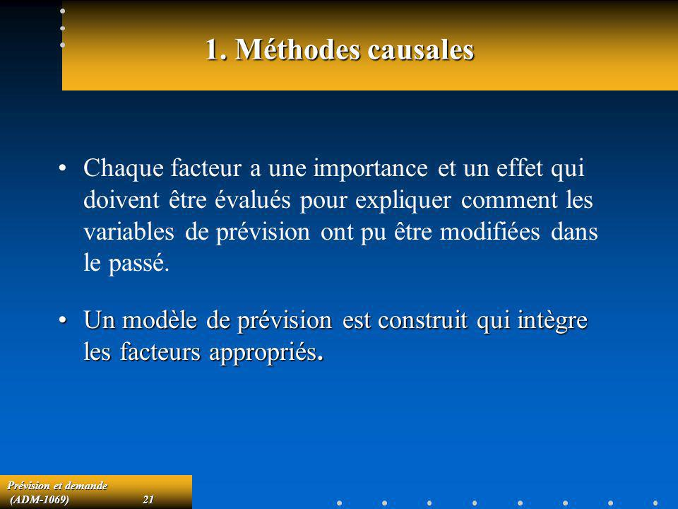 1. Méthodes causales