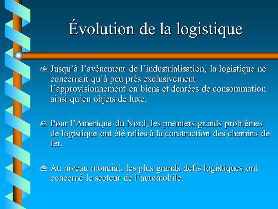 Évolution de la logistique