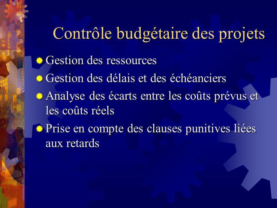 Contrôle budgétaire des projets