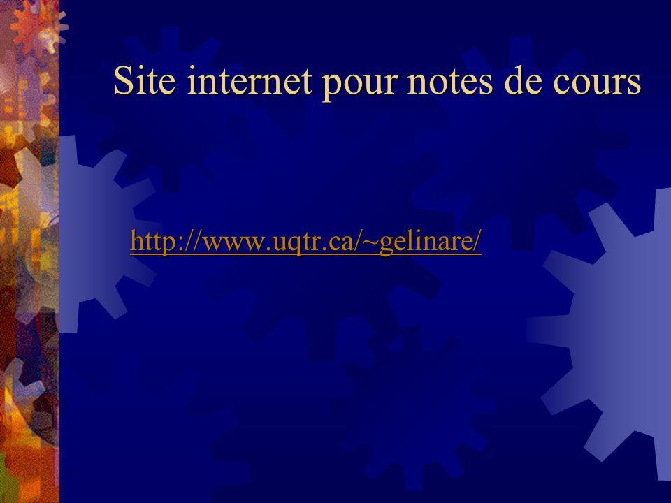 Site internet pour notes de cours