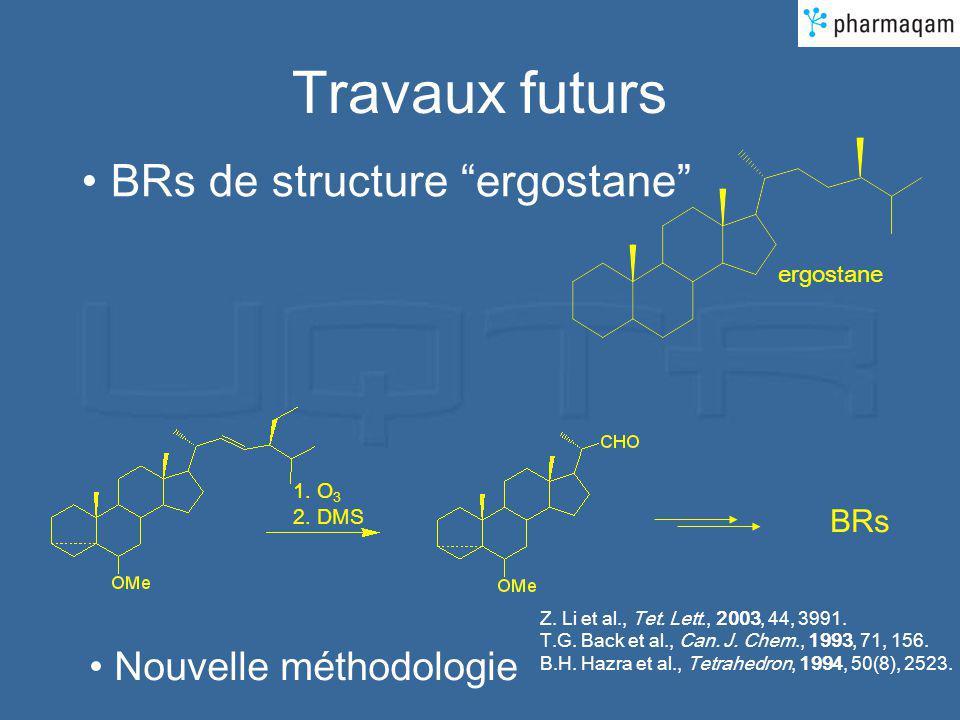 Travaux futurs BRs de structure ergostane Nouvelle méthodologie BRs