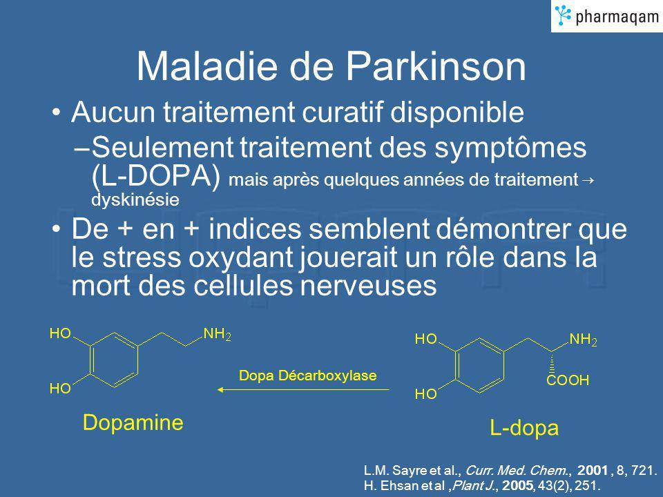 Maladie de Parkinson Aucun traitement curatif disponible