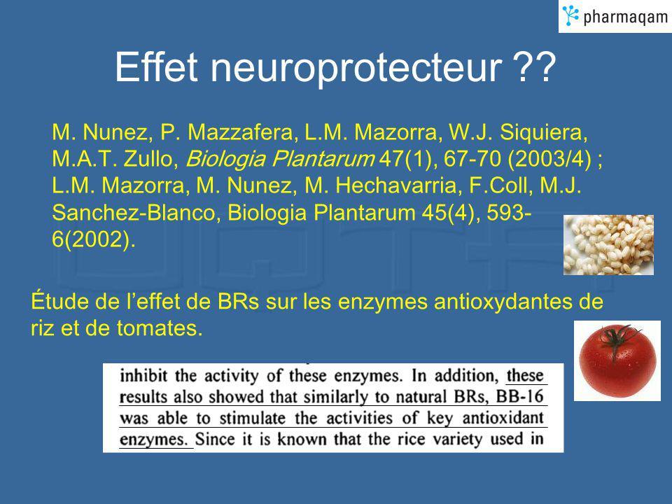 Effet neuroprotecteur