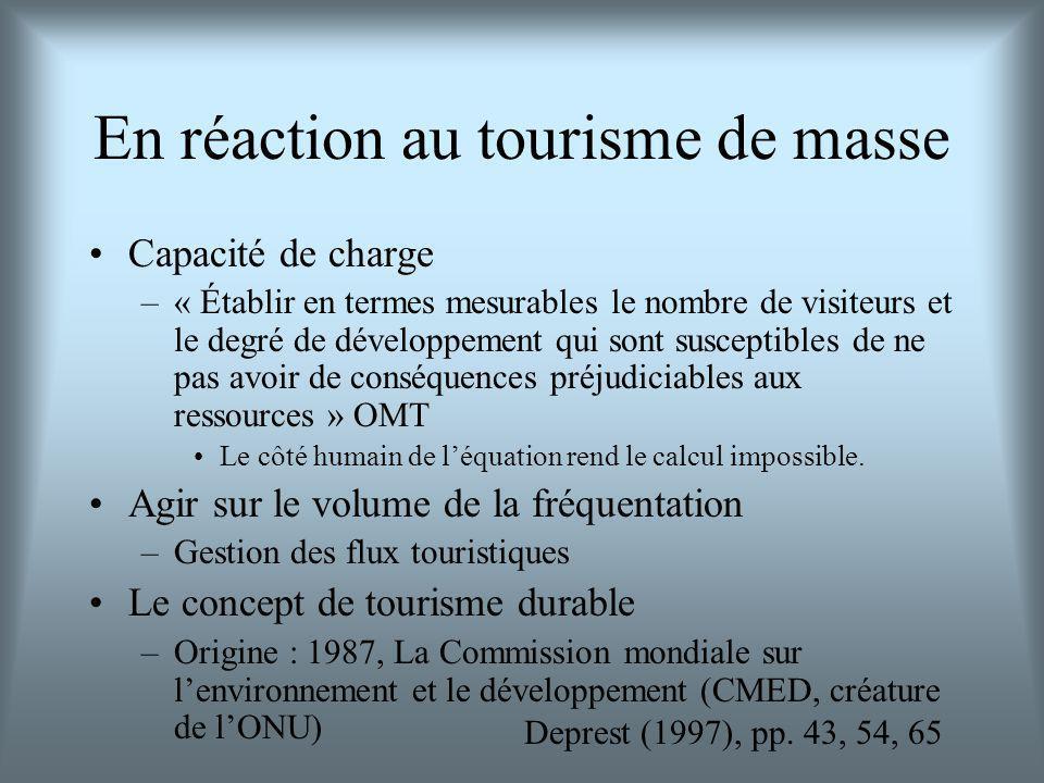 En réaction au tourisme de masse