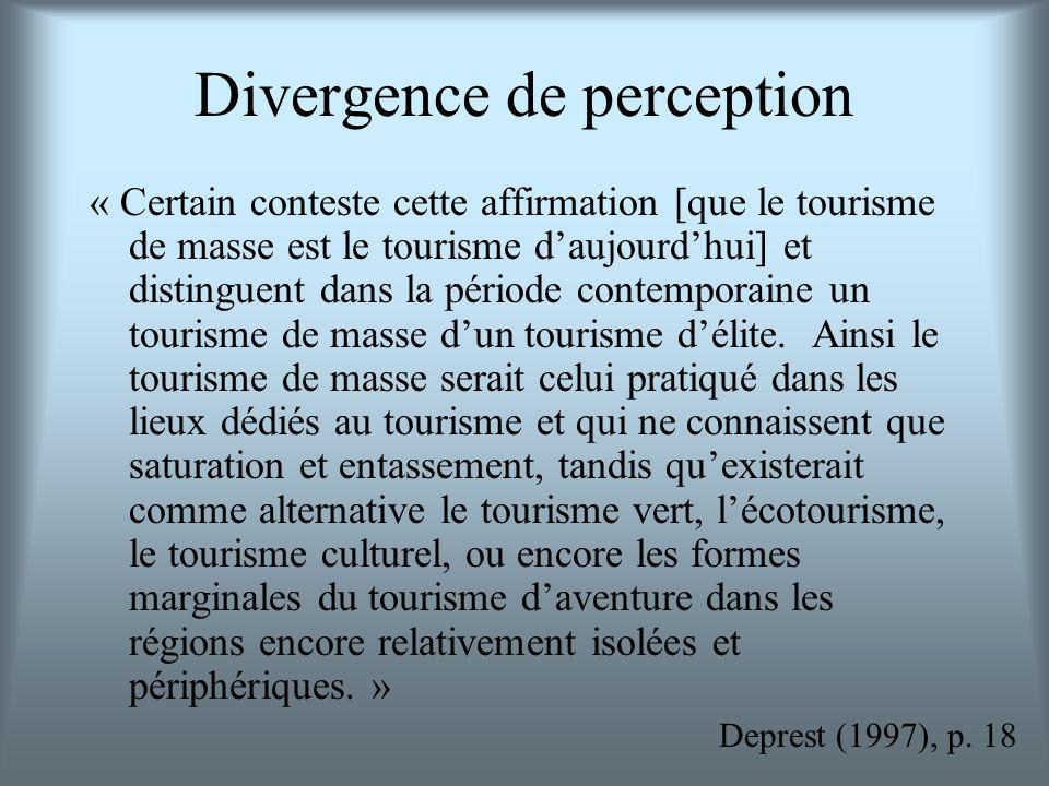 Divergence de perception