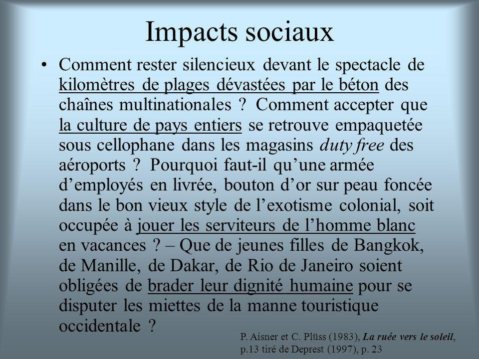 Impacts sociaux