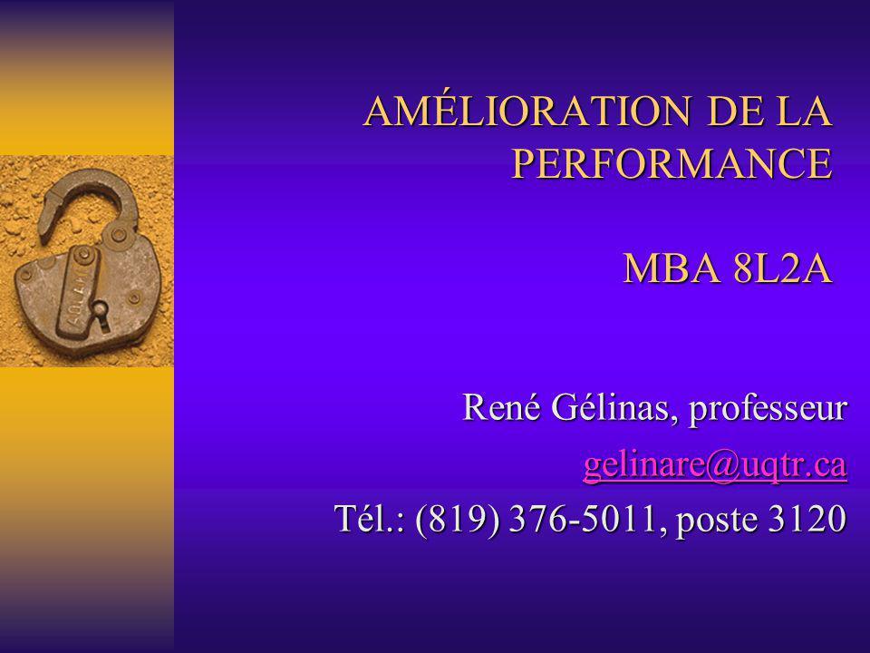 AMÉLIORATION DE LA PERFORMANCE MBA 8L2A