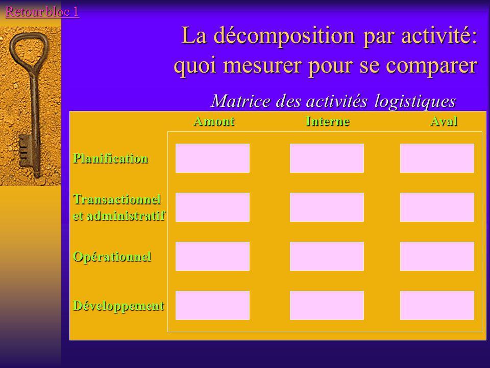 La décomposition par activité: quoi mesurer pour se comparer