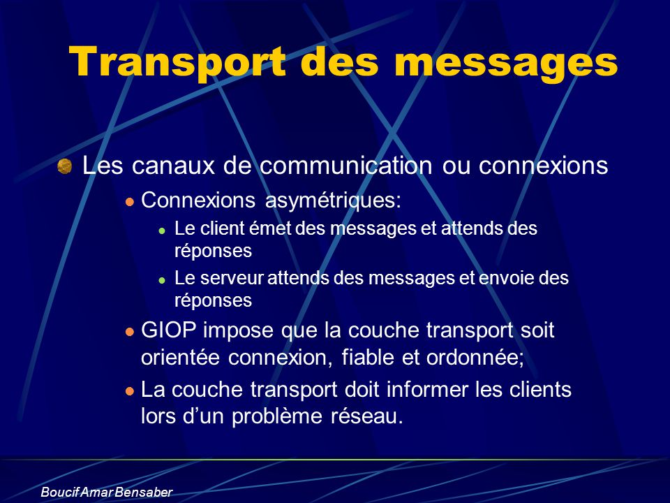 Transport des messages