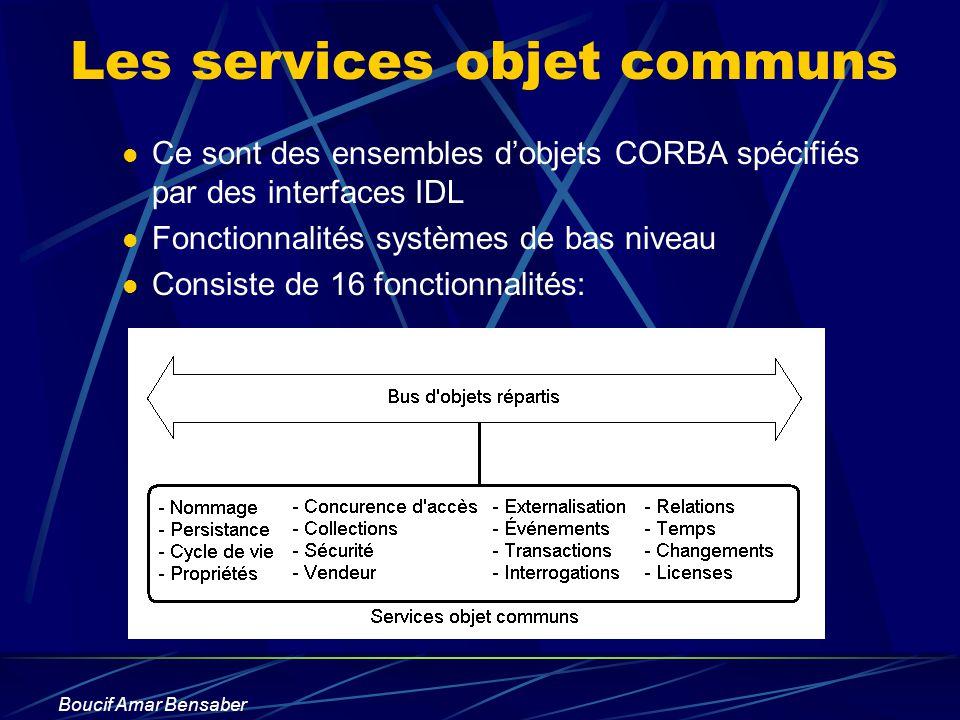 Les services objet communs