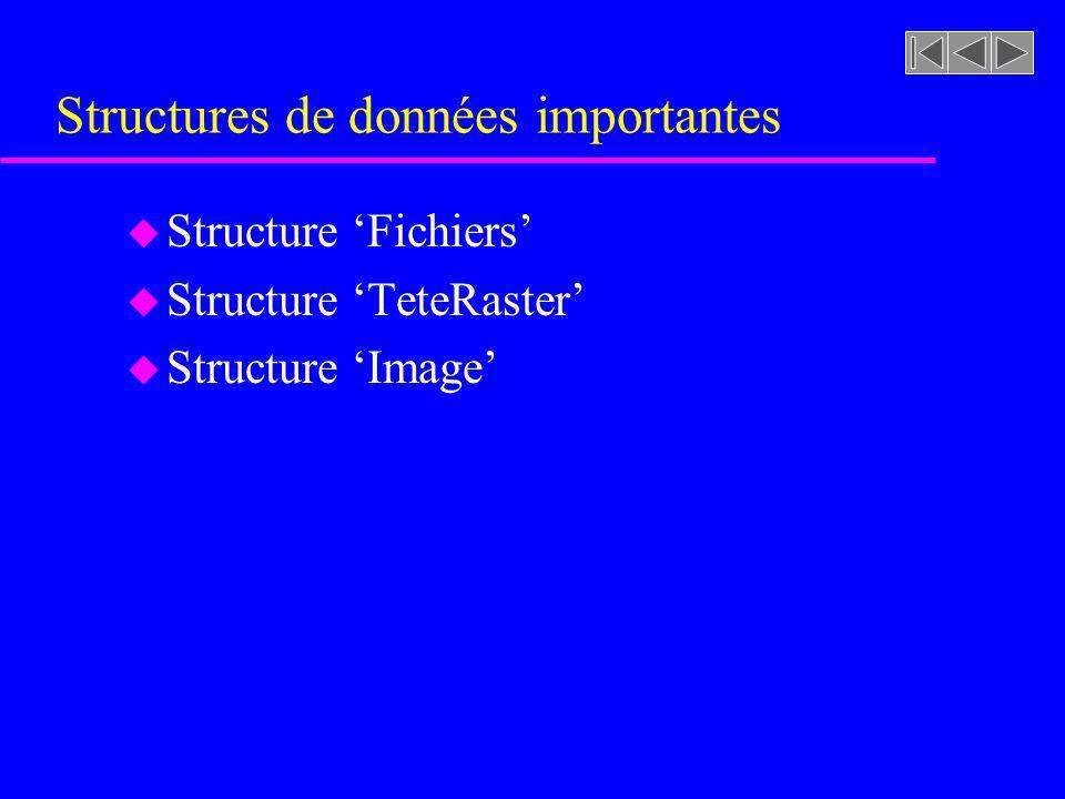 Structures de données importantes