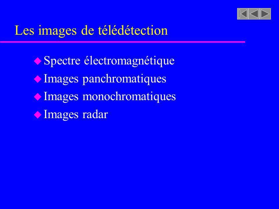 Les images de télédétection