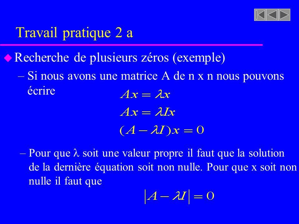Travail pratique 2 a Recherche de plusieurs zéros (exemple)