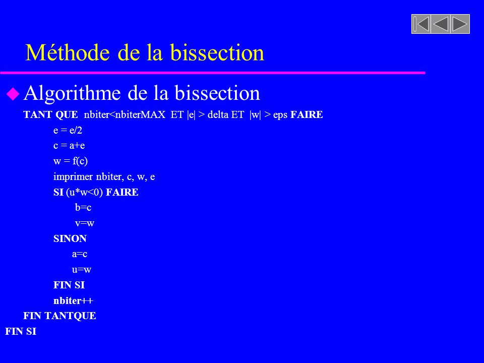 Méthode de la bissection